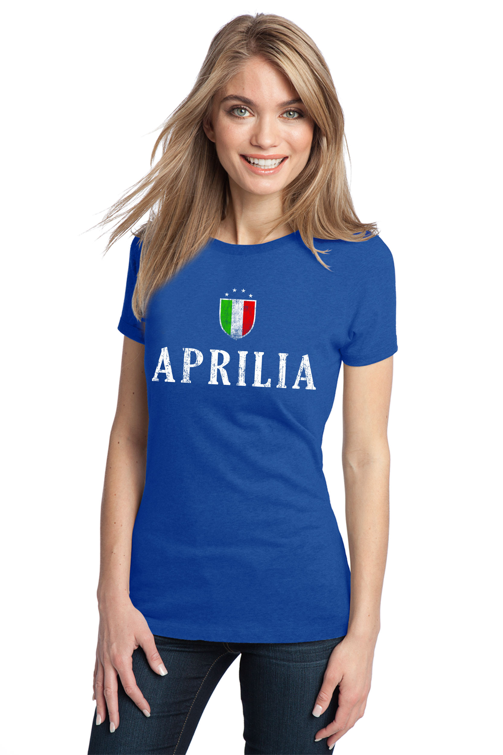 Aprilia Italy  City pictures : APRILIA ITALY Adult Ladies Vintage Look T shirt Lazio Italian City Tee