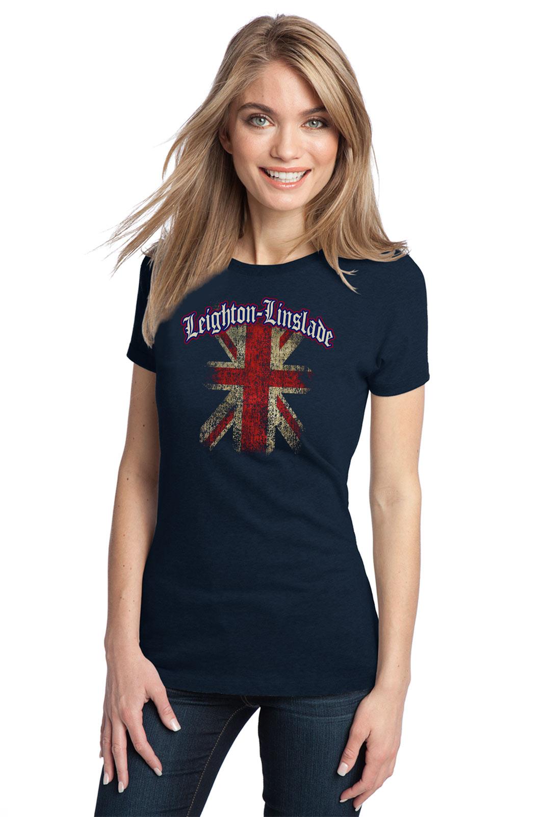 LEIGHTON-LINSLADE-ENGLAND-Adult-Ladies-T-shirt-United-Kingdom-UK-English-Un