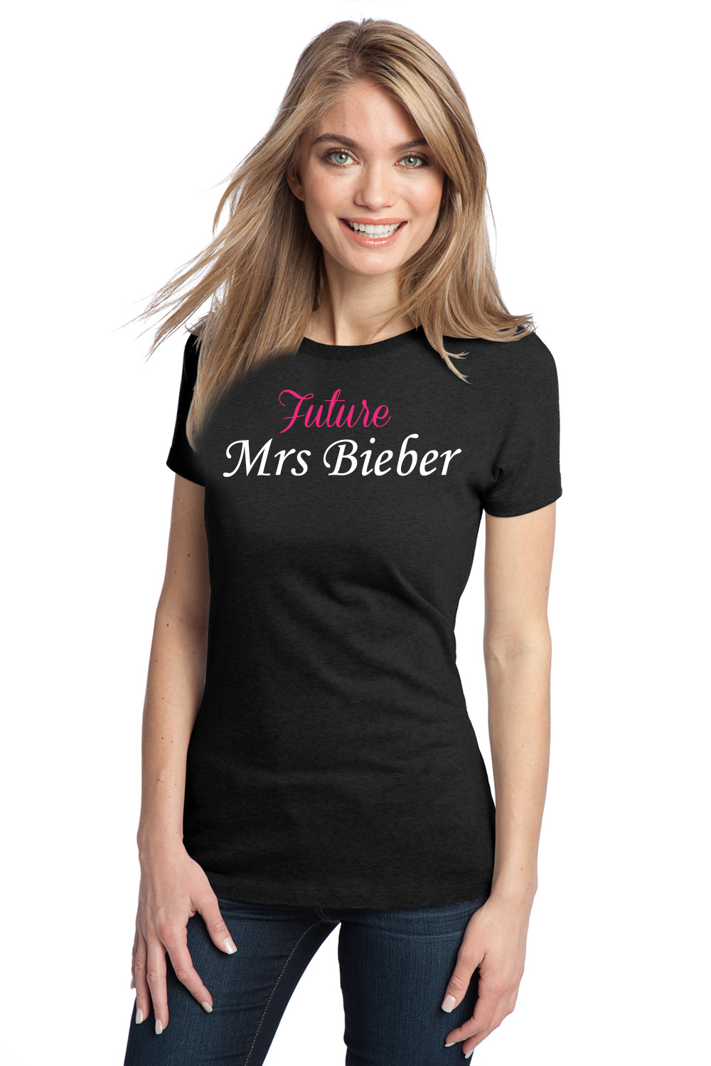 Girl In Black T Shirt | Is Shirt