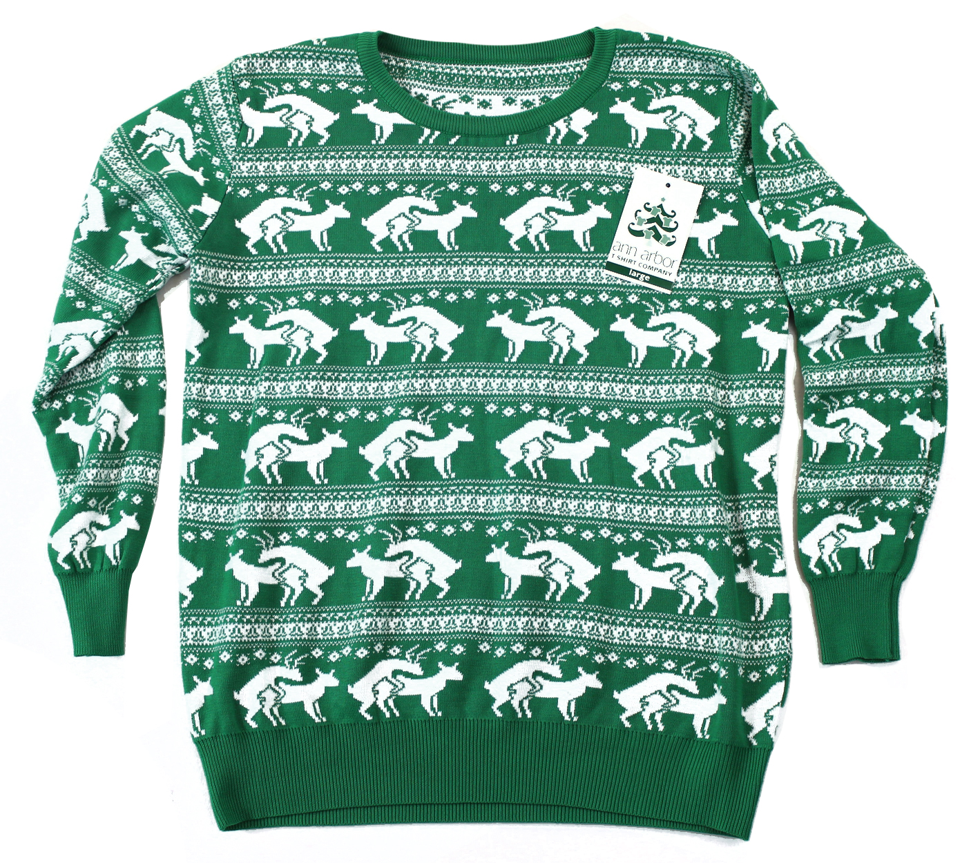 Reindeer Humping Ugly Christmas Sweater w/ Holiday Insertion ...