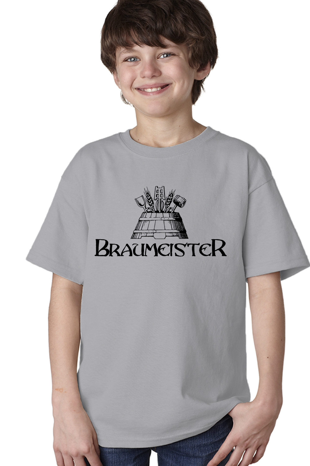 braumeister youth unisex t shirt craft brew home brewer. Black Bedroom Furniture Sets. Home Design Ideas
