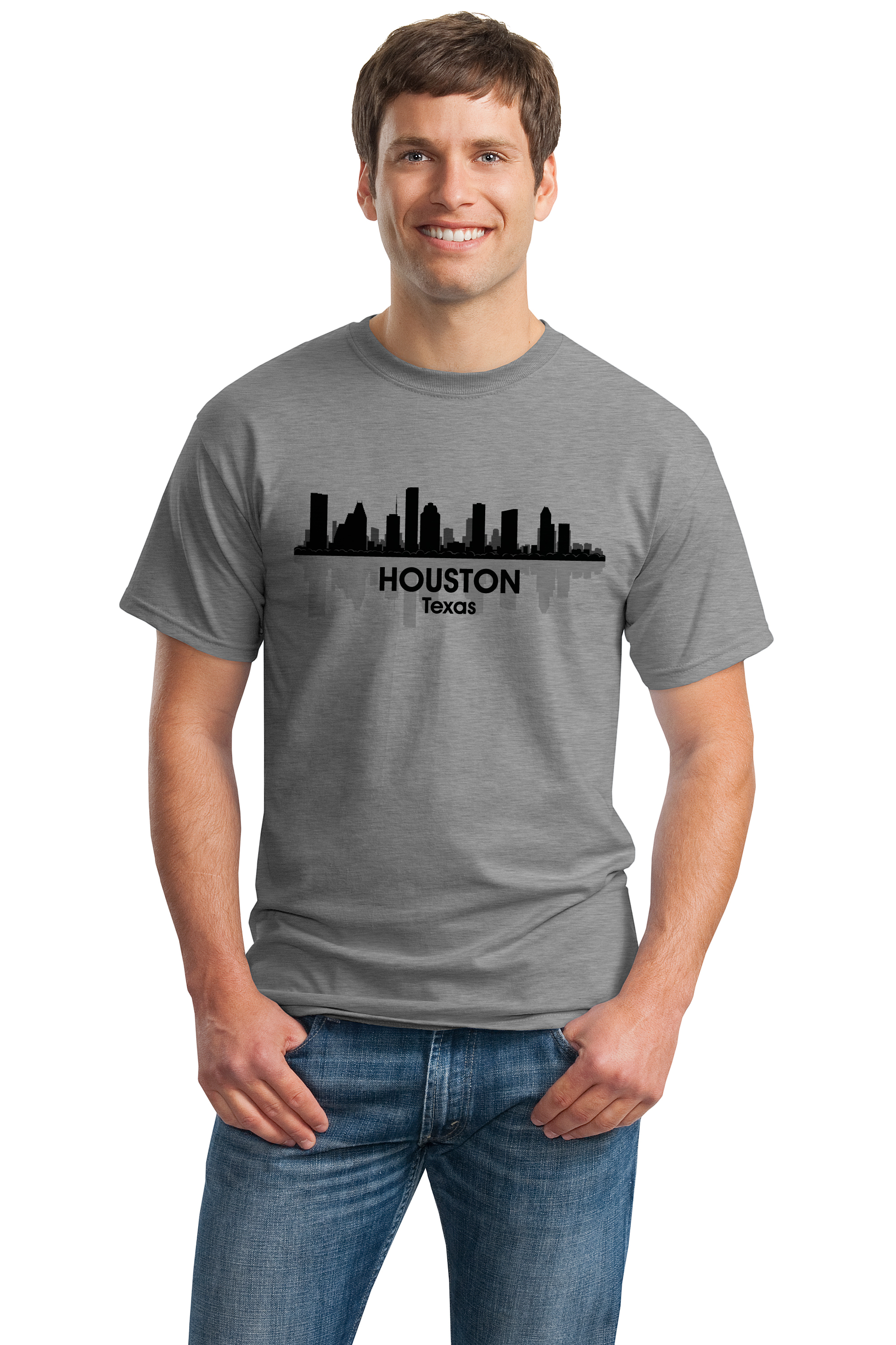 Indianapolis In City Skyline Adult Unisex T Shirt Indy